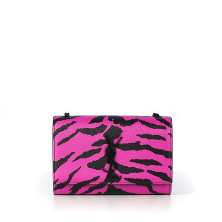 Small Pink Zebra Grained Leather Kate Bag – CHIIIQ