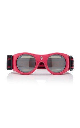 Round-Frame Ski Goggles by Moncler sunglasses | Moda Operandi