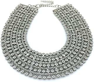 Amazon.com : silver collar necklace