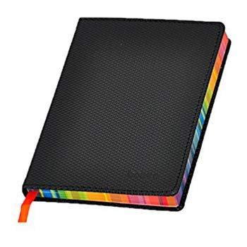 Amazon.com : Bonded Diary Leather Journal Notebook A6 Rainbow Edge 5.6 X 3.9 Inch Black : Gateway