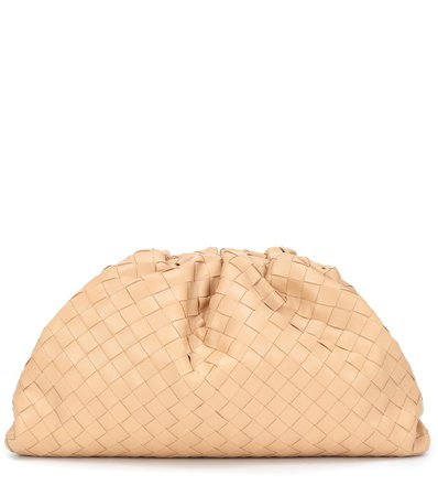 Bottega Veneta, The Pouch Intrecciato Leather Clutch Bag
