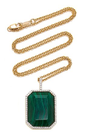 18K Gold, Diamond And Stone Necklace by Mateo | Moda Operandi