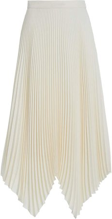 Tory Burch Sunburst Pleated Asymmetric Midi Skirt