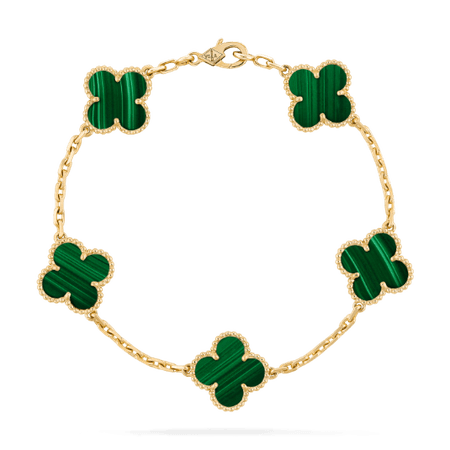 Vintage Alhambra bracelet, 5 motifs - VCARL80900- Van Cleef & Arpels