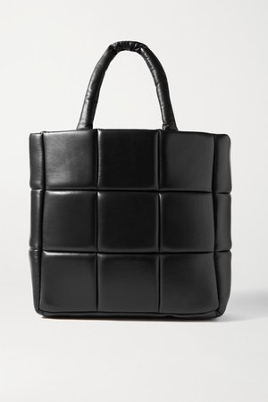 Assante Quilted Leather Tote - Black