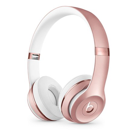 Beats Solo3 Wireless On-Ear Headphones – Rose Gold - Apple (UK)