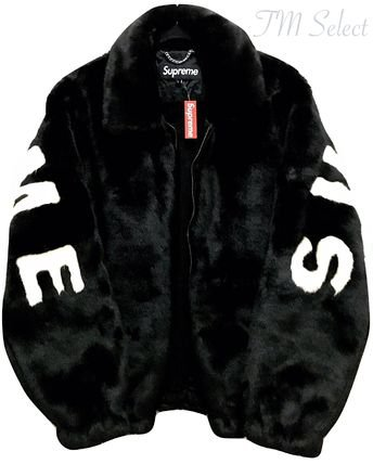 supreme fur coat men