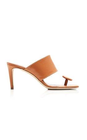 Staud Luna Leather Sandals Size: 35.5