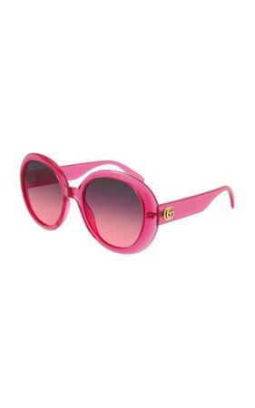 Oversized Round-Frame Sunglasses By Gucci | Moda Operandi