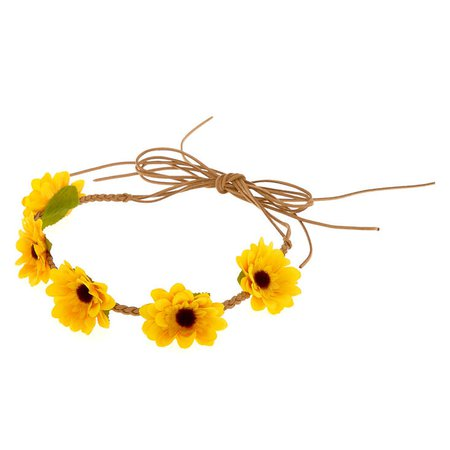 Sunflower Tie Headwrap - Yellow | Claire's US