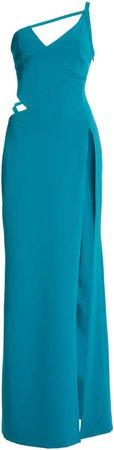 Aliette Cutout Satin Midi Dress