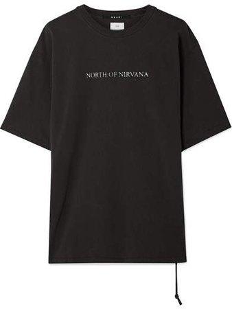 North Of Nirvana Printed Cotton-jersey T-shirt - Black