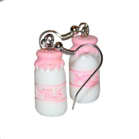 Cutie Milk Bottle Earrings cute kawaii kitsch milk bottle | Etsy