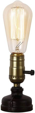 INJUICY Steampunk Table Lamp, Vintage Water Pipe Desk Lamp with Switch for Cafe, Bar, Bedside, Bedrooms, Home Decoration: Amazon.ca: Home & Kitchen