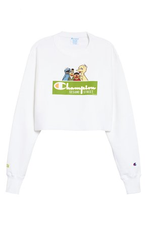 Champion x Sesame Street We Are Sesame Crop Sweatshirt | Nordstrom