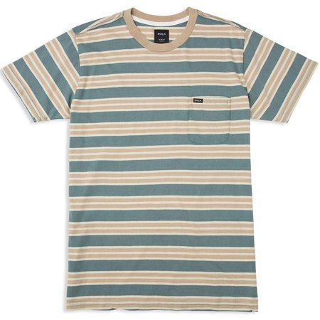 RVCA Mens Lucas Stripe Knit Short Sleeve T-Shirt