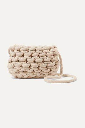 Cream Woven cotton shoulder bag | Alienina Kids | NET-A-PORTER