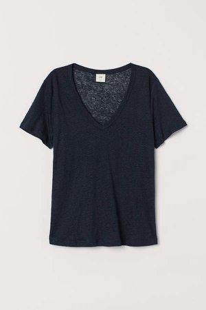 Linen Jersey Top - Blue