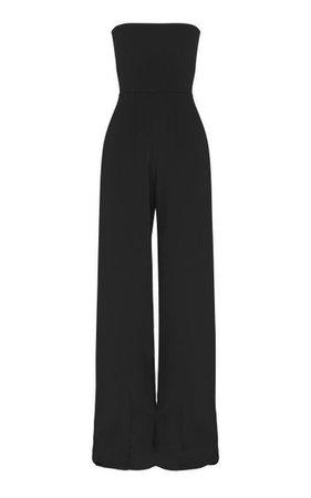 Mandel Stretch Crepe Strapless Jumpsuit By Alex Perry | Moda Operandi