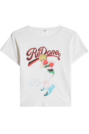 Printed Cotton T-Shirt Gr. S