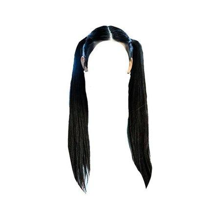 Black Long Ponytail PNG