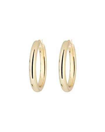 Argento Vivo Medium Hollow Hoop Earrings | INTERMIX®
