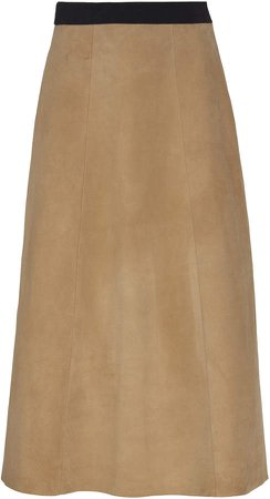 ALBUS LUMEN High-Rise Suede Skirt Size: 6