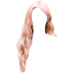 LONG PINK HAIR PNG