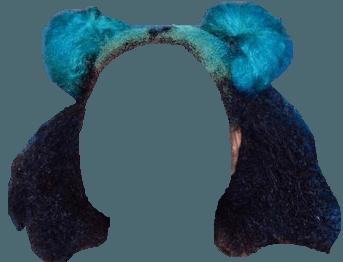 Transparent Blue and Black Natural Space Buns 1   @hantisedeloubli (Dei5/Heavenscent)
