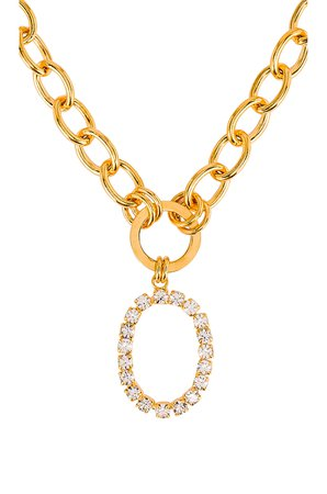 Crystal Oval Lariat