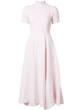 Emilia Wickstead flared short sleeve dress PINK Women Clothing Cocktail & Party Dresses [w-11889642] - $412.18 : Apiece Apart Sale, Emanuel Ungaro Suits For Sale