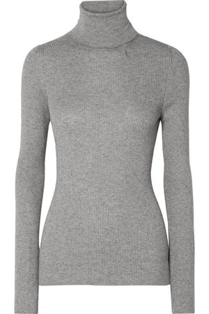Handvaerk | Ribbed Pima cotton and alpaca-blend turtleneck sweater | NET-A-PORTER.COM