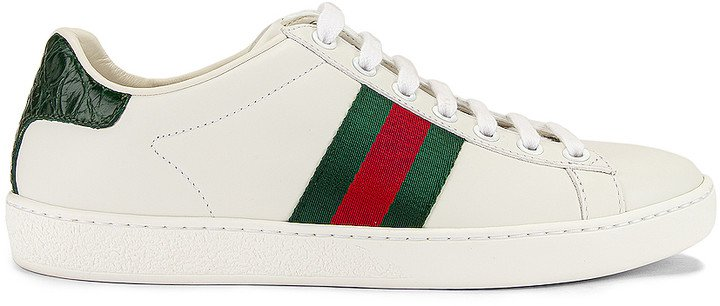New Ace Basic Sneakers in White & Green | FWRD