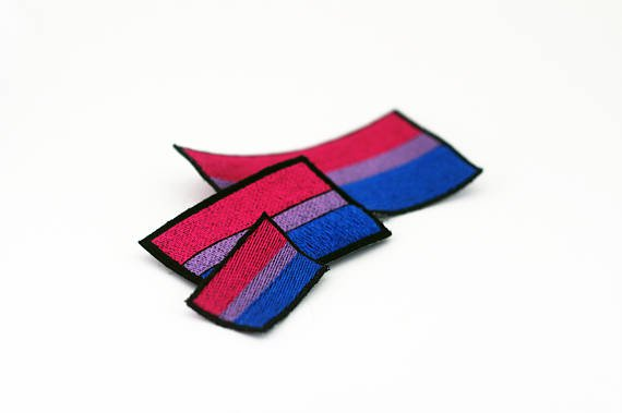 Bisexual Pride Flag Patch Iron on Patch Sew on Patch Pride