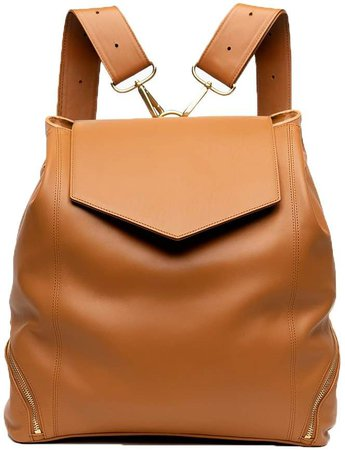 Holly & Tanager - The Professional Leather Backpack Purse In Caramel