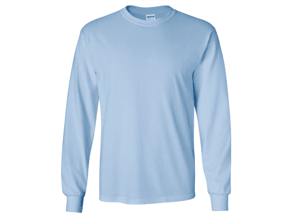 Monogrammed Long Sleeve T-Shirt Light Blue with Applique Monogram – C. Claire Embroidery