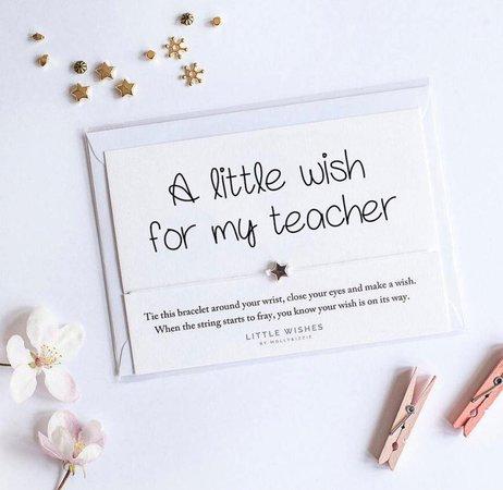 Wish bracelet teacher appreciation gift teacher thank you | Etsy
