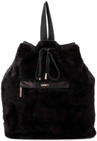 faux fur backpack