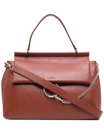 Chloé Faye chain-detail Shoulder Bag - Farfetch