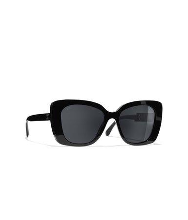 Square Sunglasses Black eyewear   CHANEL