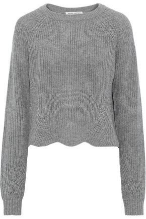 Cropped scalloped ribbed cashmere sweater | AUTUMN CASHMERE | Sale up to 70% off | THE OUTNET