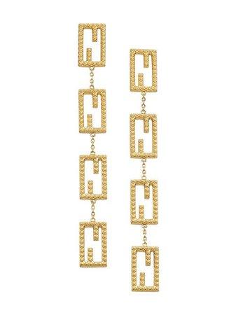 Fendi Baguette Drop Earrings - Farfetch