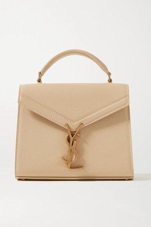 Cassandra Mini Textured-leather Tote - Beige