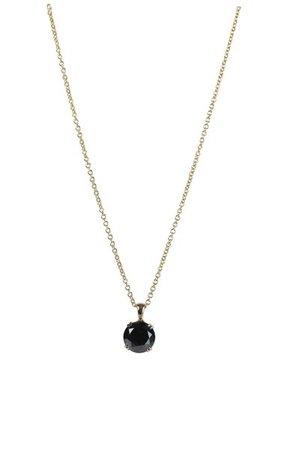 14k Yellow Gold Black Diamond Necklace By Maria Jose Jewelry | Moda Operandi