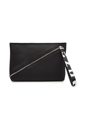 Zip Pouch Leather Clutch Gr. One Size