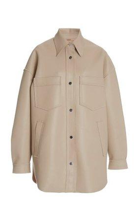 Martin Oversized Vegan Leather Jacket By Nanushka   Moda Operandi