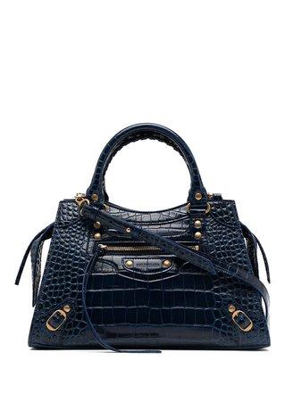 Shop blue Balenciaga small Neo Classic City bag with Express Delivery - Farfetch
