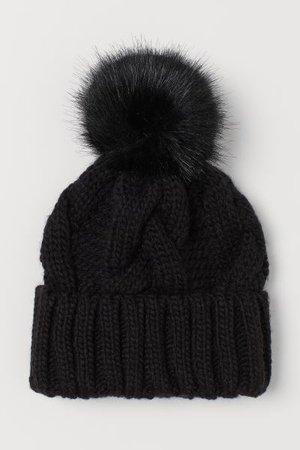 Knit Hat - Black - Ladies | H&M US