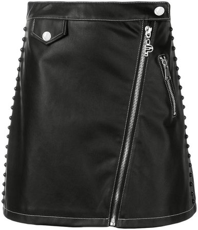 zipped A-line skirt