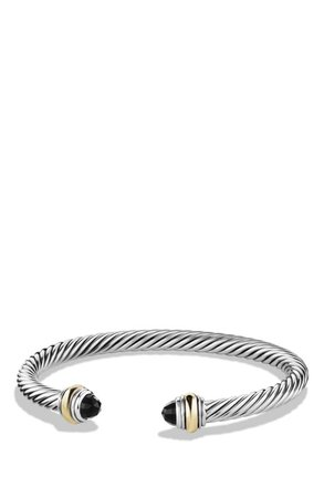 David Yurman Cable Classics Bracelet with Semiprecious Stones & 14K Gold Accent, 5mm | Nordstrom